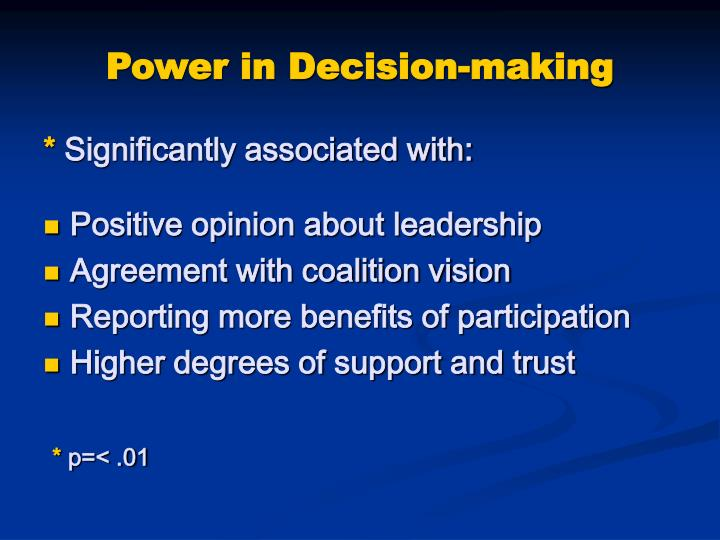 Power in Decision-making