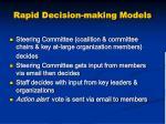 rapid decision making models