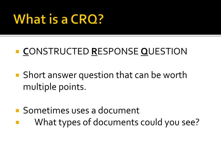 What is a crq
