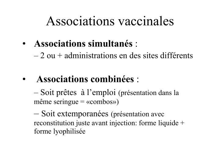 Associations vaccinales