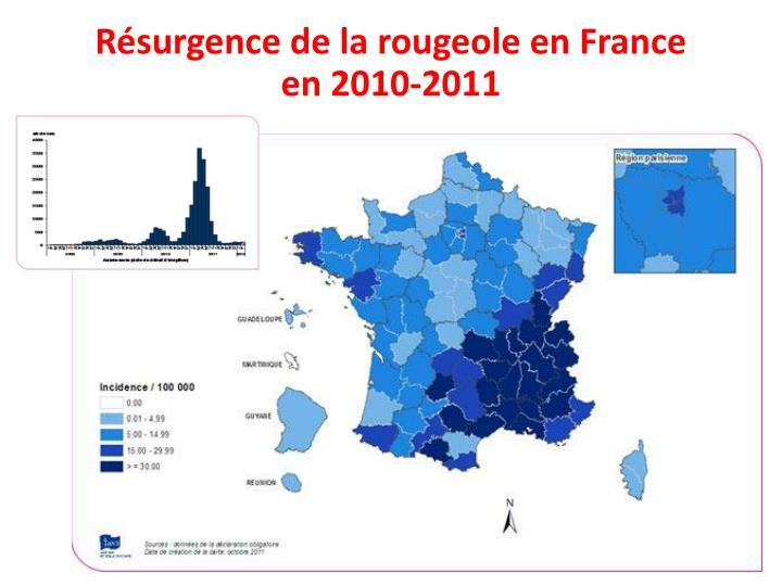 Résurgence de la rougeole en France