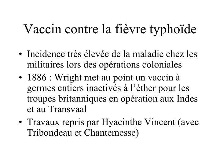 Vaccin contre la fièvre typhoïde