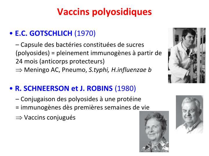 Vaccins polyosidiques