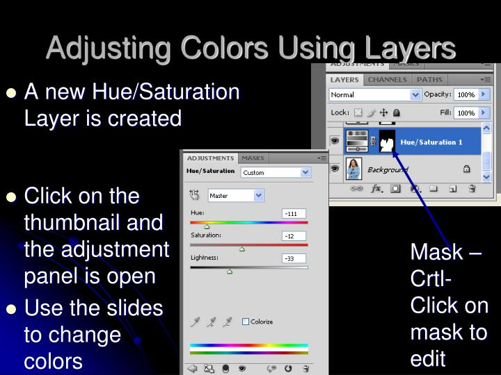 Adjusting Colors Using Layers