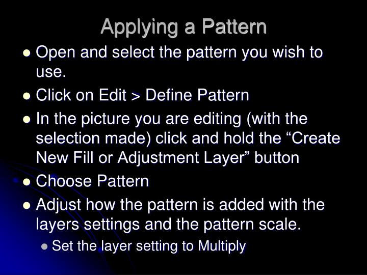 Applying a Pattern