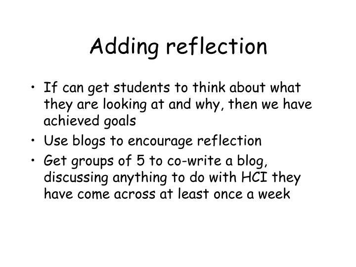 Adding reflection