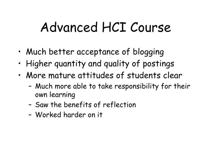 Advanced HCI Course