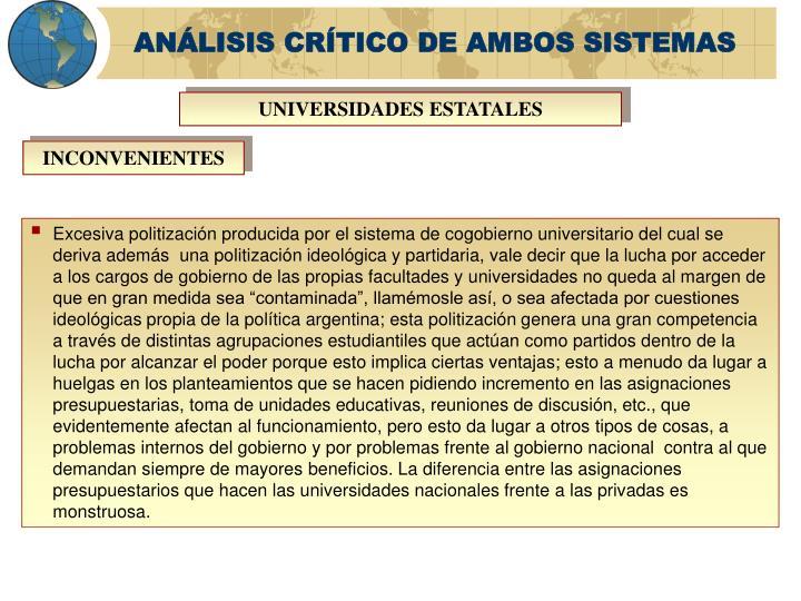 ANÁLISIS CRÍTICO DE AMBOS SISTEMAS