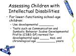 assessing children with intellectual disabilities1