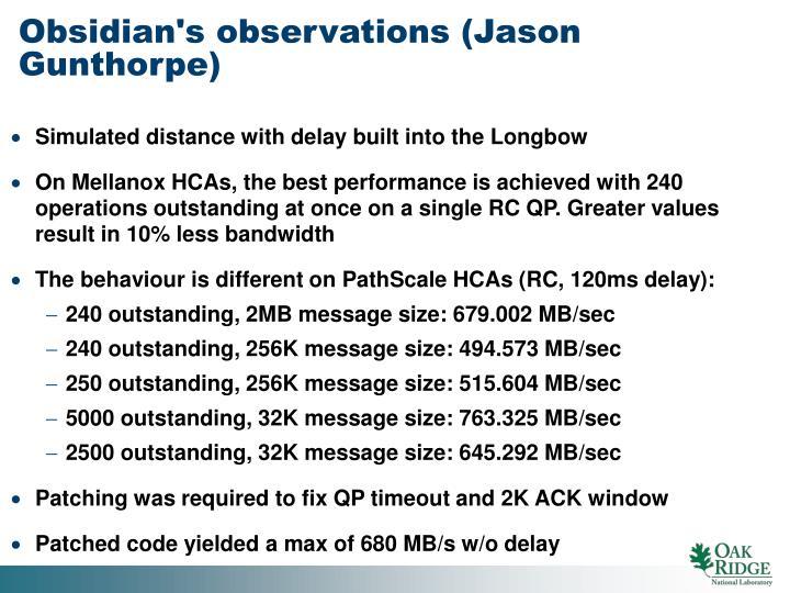 Obsidian's observations (Jason Gunthorpe)