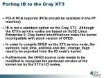 porting ib to the cray xt3