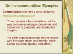 online communities ejemplos