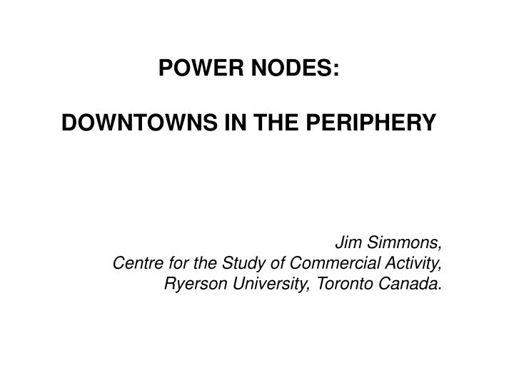 POWER NODES: