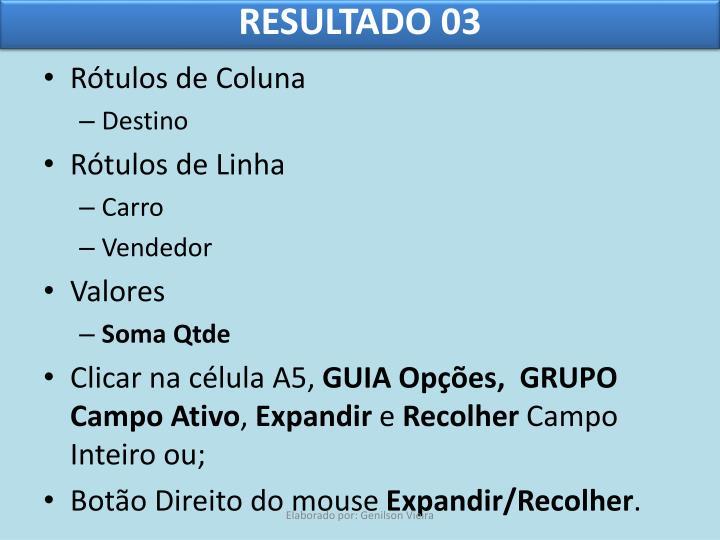 RESULTADO 03