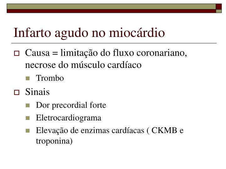 Infarto agudo no miocárdio