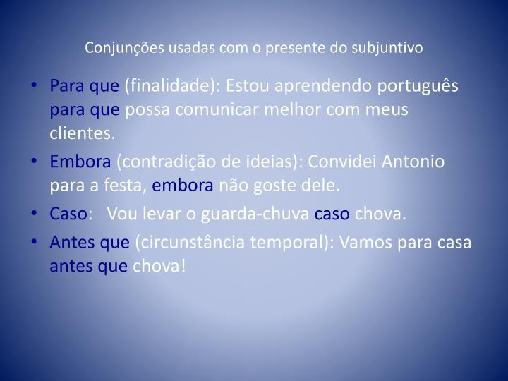 Conjunções