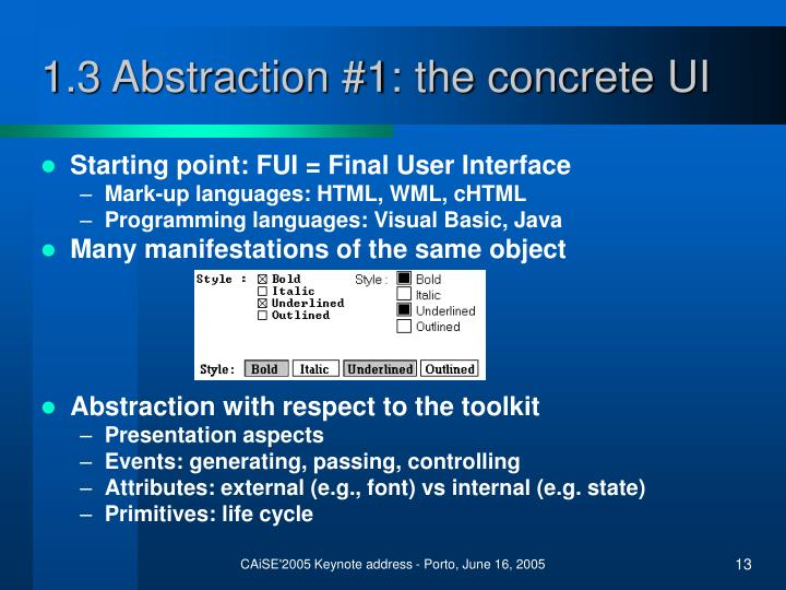 1.3 Abstraction #1: the concrete UI