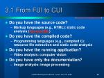 3 1 from fui to cui