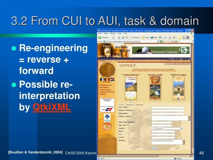 3.2 From CUI to AUI, task & domain