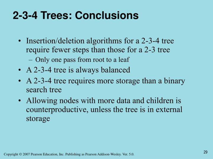 2-3-4 Trees: Conclusions