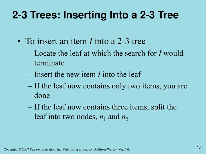 2-3 Trees: Inserting Into a 2-3 Tree
