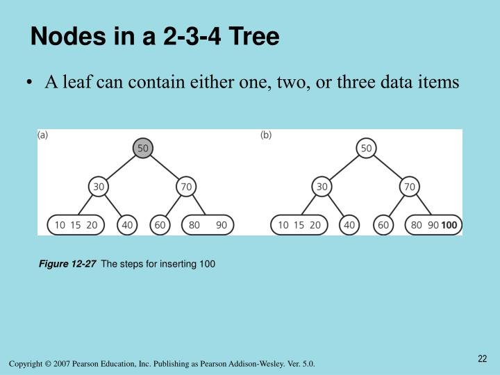 Nodes in a 2-3-4 Tree