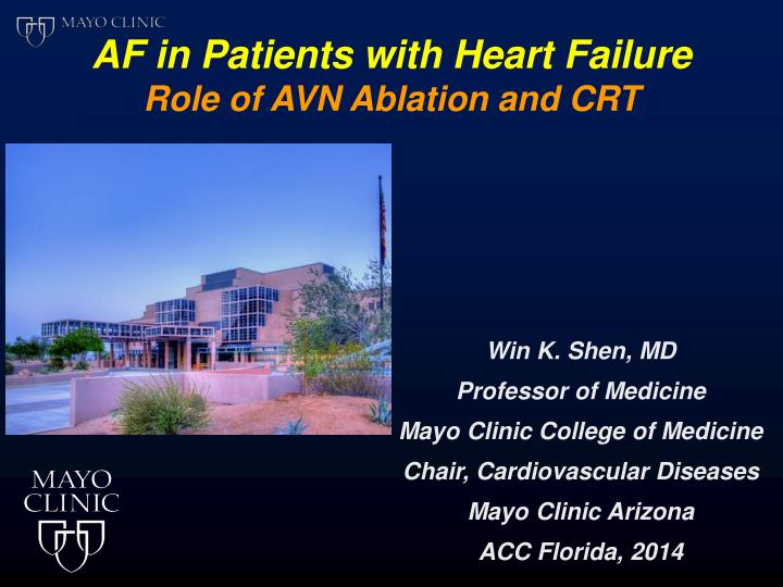 AF in Patients with Heart Failure
