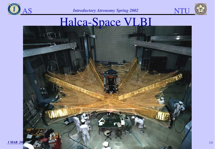 Halca-Space VLBI