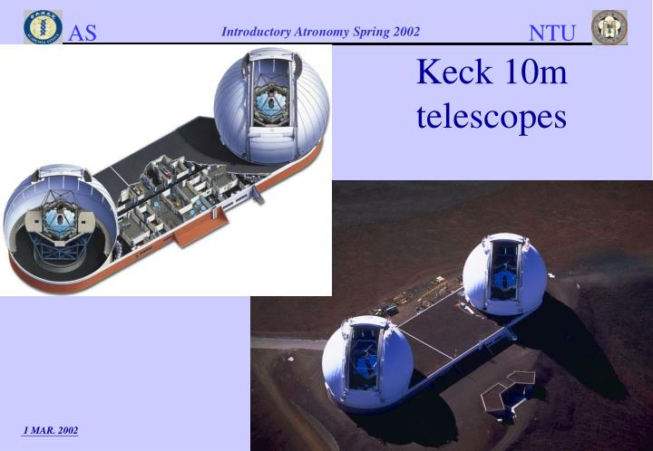 Keck 10m telescopes