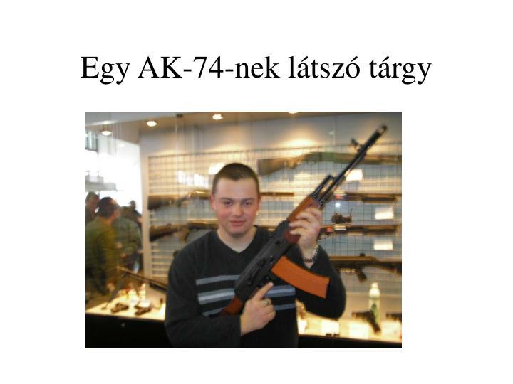 Egy AK-74-nek látszó tárgy