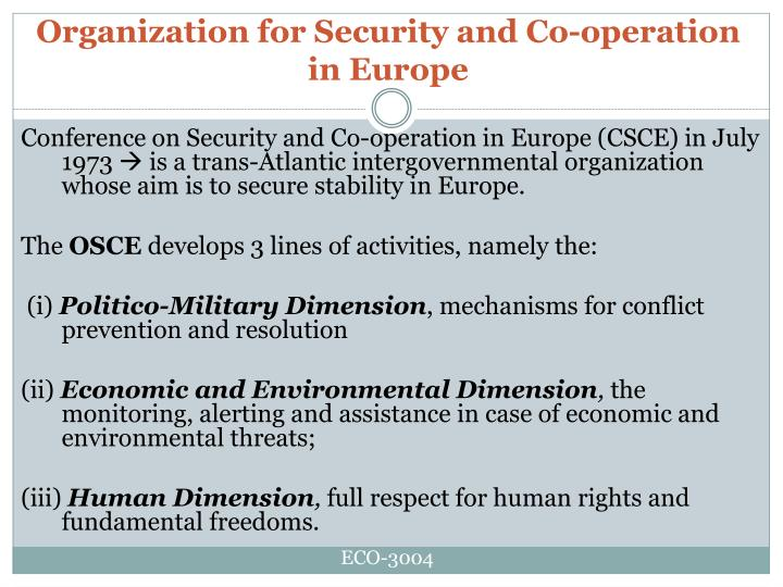 Organization for Security and Co-operation