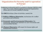 organization for security and co operation in europe