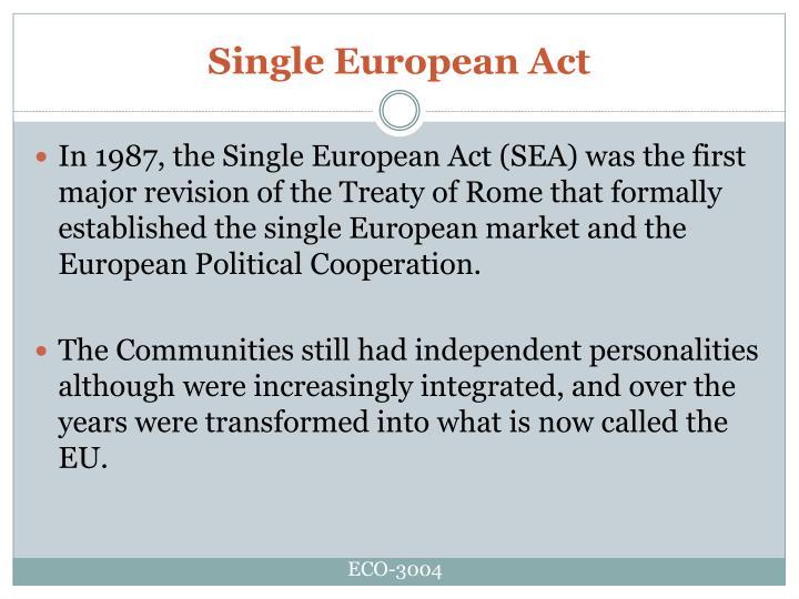 Single European Act