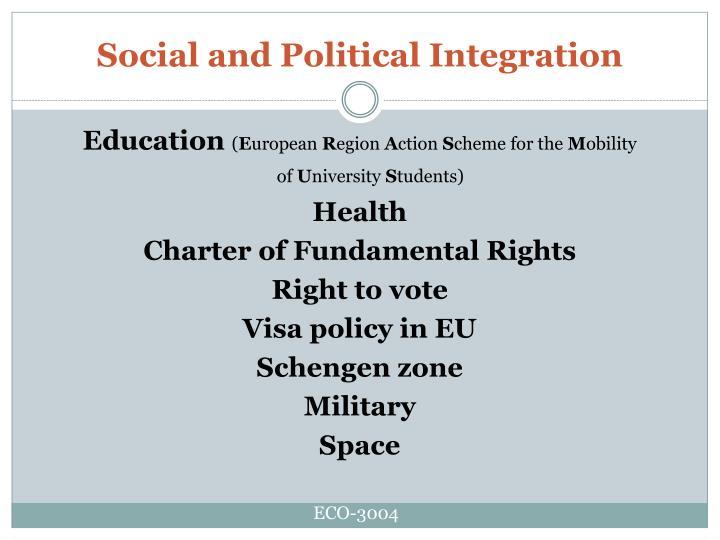 Social and Political Integration