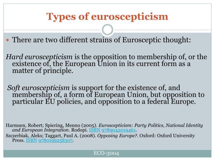 Types of euroscepticism