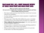 waccamaw eoc inc brief summary review of early head start and head start data1