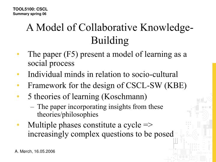 A Model of Collaborative Knowledge-Building