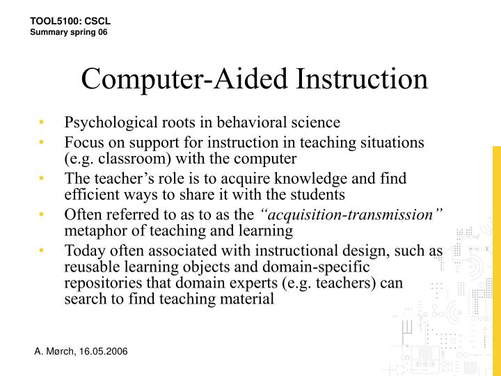Computer-Aided Instruction