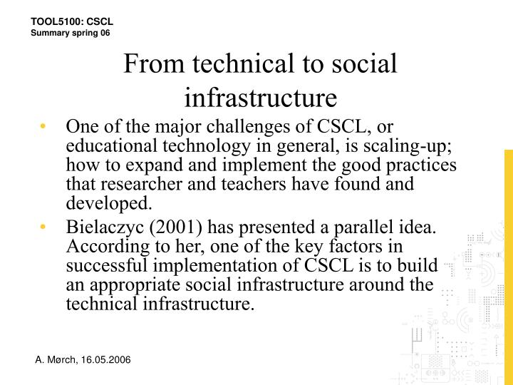 From technical to social infrastructure