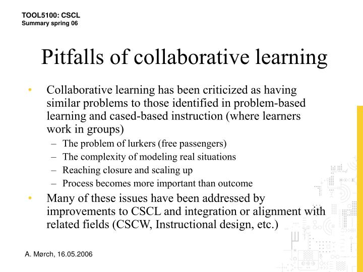 Pitfalls of collaborative learning