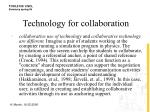 technology for collaboration