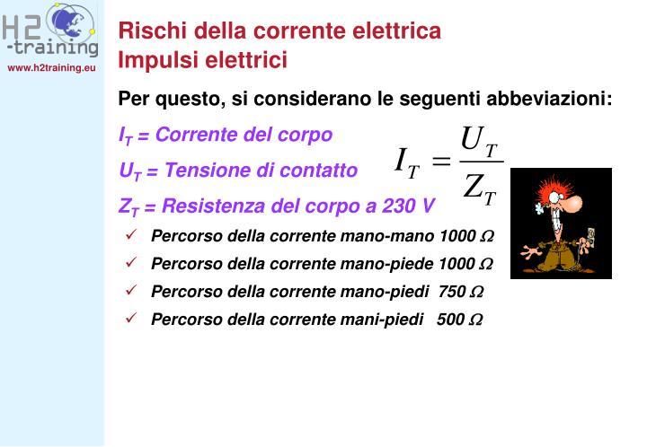 Rischi della corrente elettrica