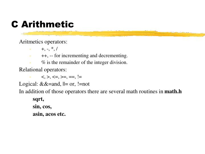 C Arithmetic