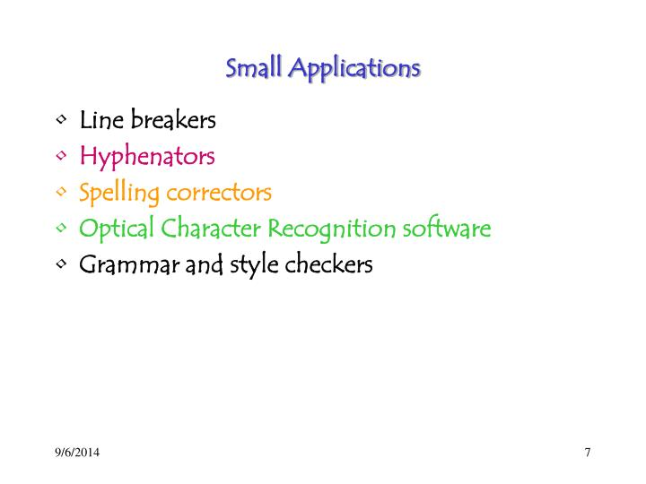 Small Applications