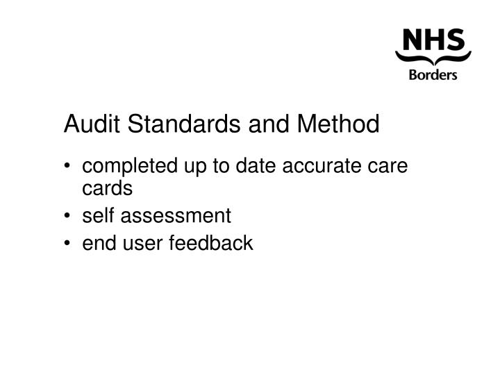 Audit Standards and Method