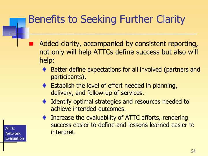 Benefits to Seeking Further Clarity