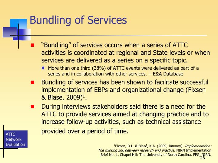 Bundling of Services