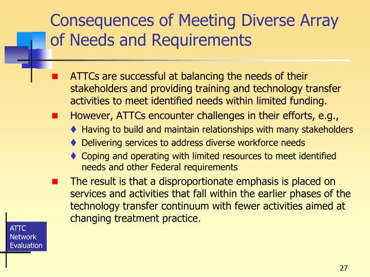 Consequences of Meeting Diverse Array