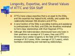 longevity expertise and shared values of attc and ssa staff
