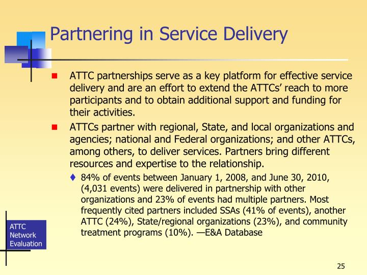 Partnering in Service Delivery